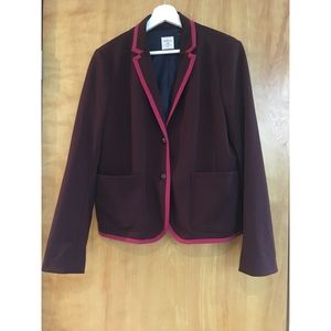 Gap Maroon The Academy Blazer Size 12